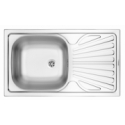 Мойка Deante ZYU_0110 TECHNO 1-BOWL S/S SINK WITH DRAINING BOARD, WITH FITTINGS, SATIN